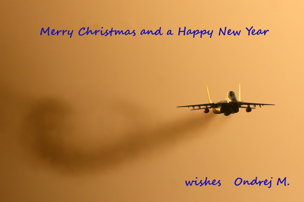 attached photos - Airplane Christmas Cards