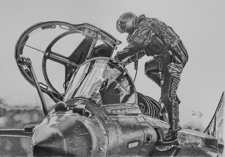 My hobby pencil drawings of aircraft aviation art